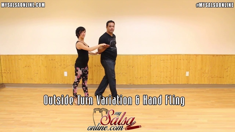 Salsa Intermediate Turn Pattern Combination - Outside Turn Variation Hand Fling