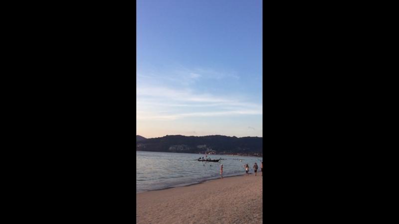 Закат в Тайланде,остров Пхукет,Патонг бич