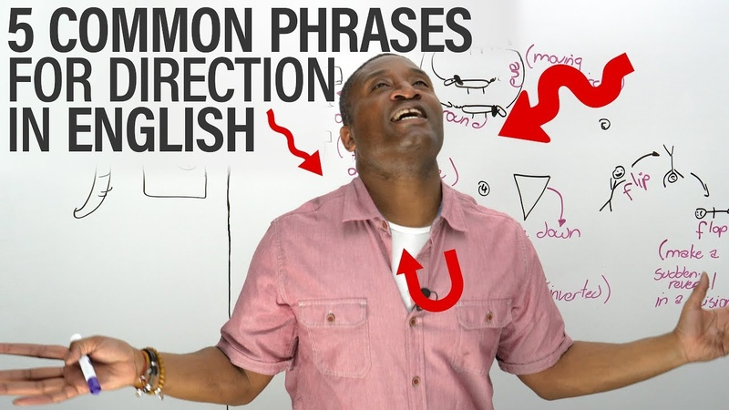 5 Common Direction Phrases in English UPSIDE DOWN, INSIDE OUT...