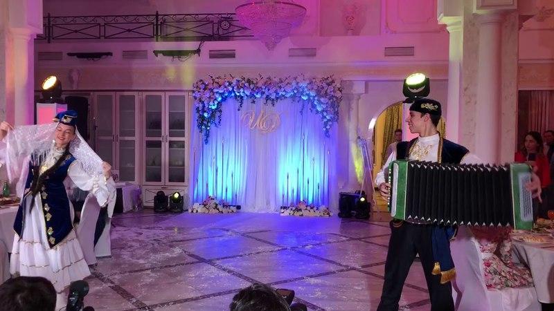 Татарский парный танец с гармошкой Мэхэббэт гармуны