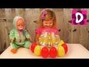 ✿ Кукла Беби Борн и Диана Выращивают Цветы в Воде Doll Baby Born and Diana Grow flowers in water