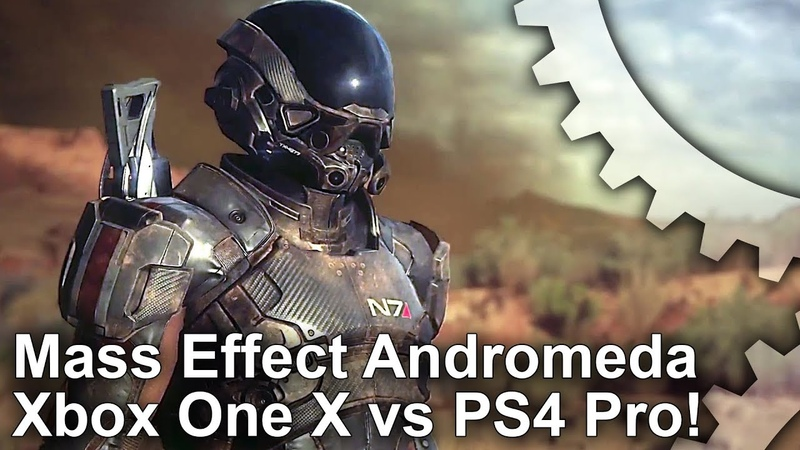 [4K] Mass Effect Andromeda: Xbox One X vs PS4 Pro - Performance Improved on X