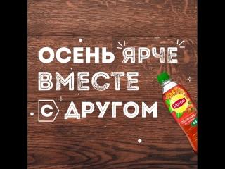 Осень ярче вместе с другом и Lipton Ice Tea