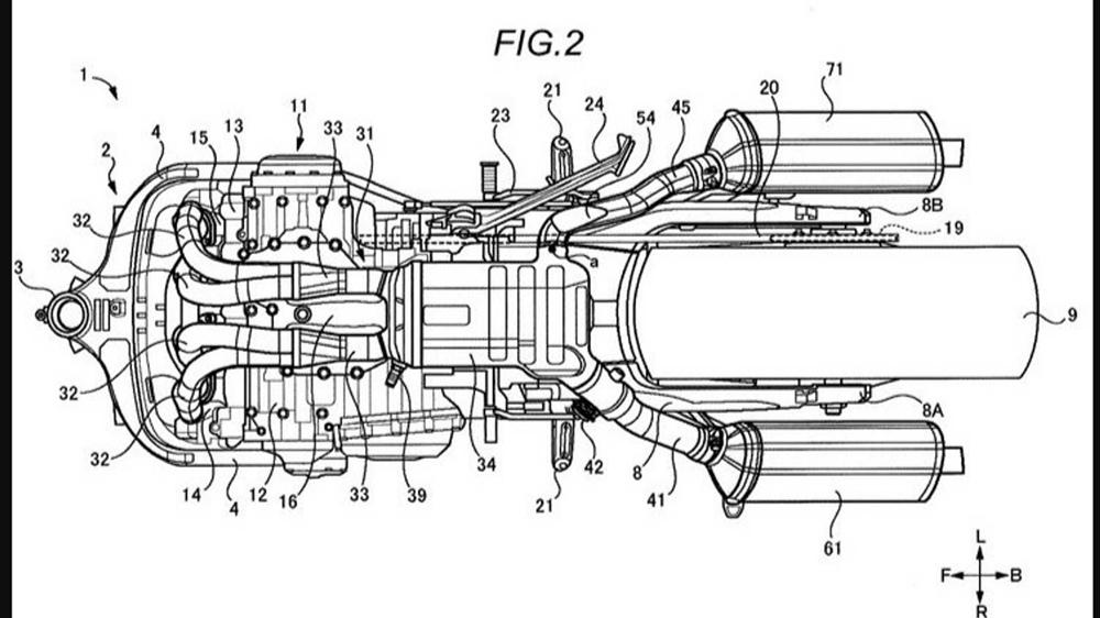 Мото слухи: схемы выхлопной системы нового поколения Suzuki Hayabusa