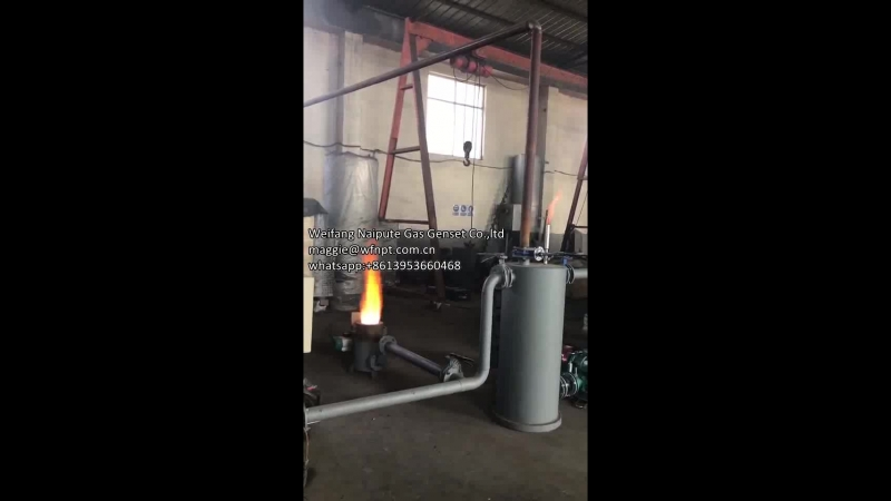 Factory test for Biomass gasifier