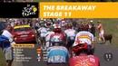 The breakaway Stage 11 Tour de France 2018