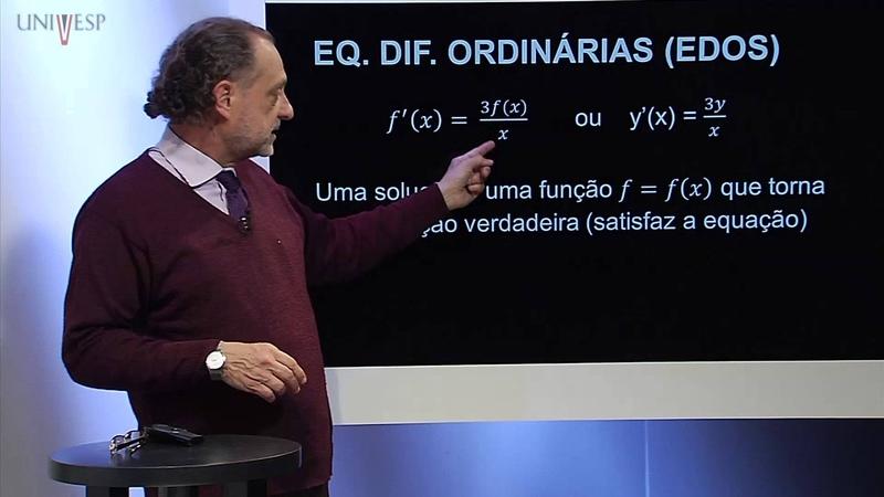 Cálculo III - Aula 11 - Introdução ao estudo de equações diferenciais ordinárias