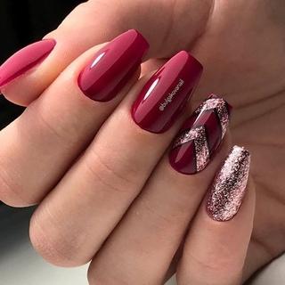 Красивый Темный Маникюр На Короткие Ногти Фото