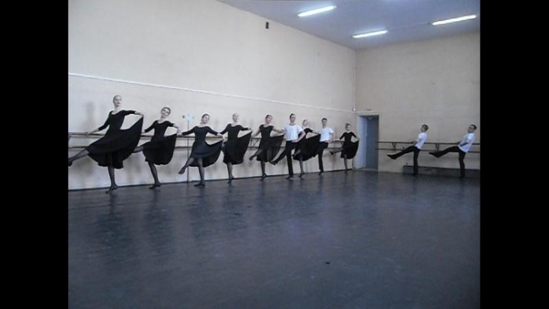 Народный танец Станок 2 группа часть 2 Зачет по танцу 2 курс II семестр ЕГТИ худ рук А В Блинова и А А Блинов преподавател