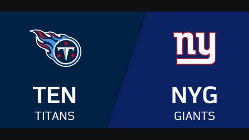 NFL 2018-2019 / Week 15 / CG / Tennessee Titans - New York Giants / EN