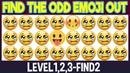 Find The Odd Emoji Out 3Levels1 2 3 FIND2 Spot The Difference Emoji Emoji Puzzle Quiz Spot Find