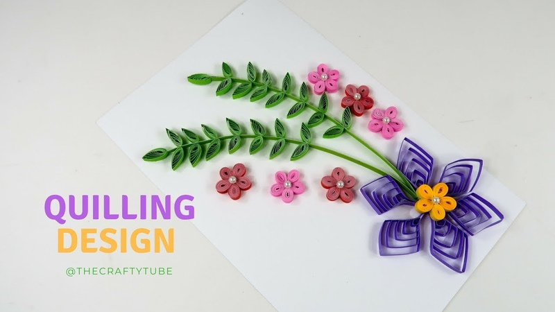 Paper Quilling Design - How To Make Quilling Flower Card - Gift For Loved One - Quilling Flower - 💜