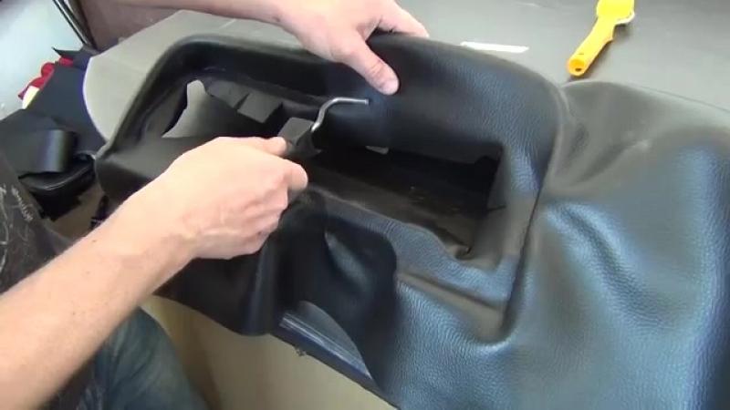 Каучуковым материалом обтягиваем торпеду