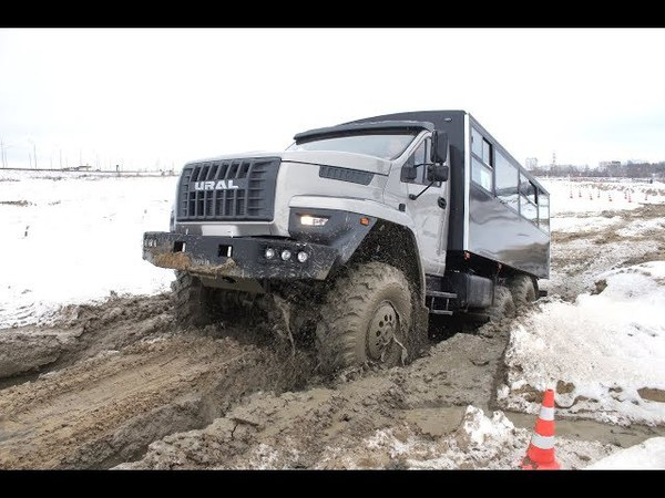 УРАЛ NEXT ПО БЕЗДОРОЖЬЮ РОССИИ URAL NEXT new all wheel drive truck