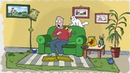 Кот Саймона все серии в цвете Fast Food Hambush Simon's Cat in color
