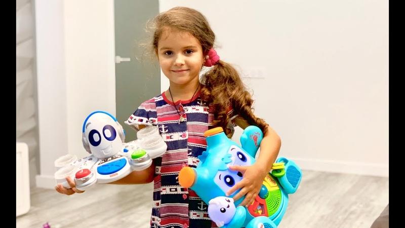 распаковка игрушки Fisher Price Роккит и Спарки Обучающий Осьминог