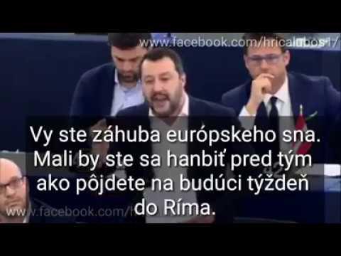 Salvini řádil Nový proslov v EU. To nám v ČT a STV nepustí