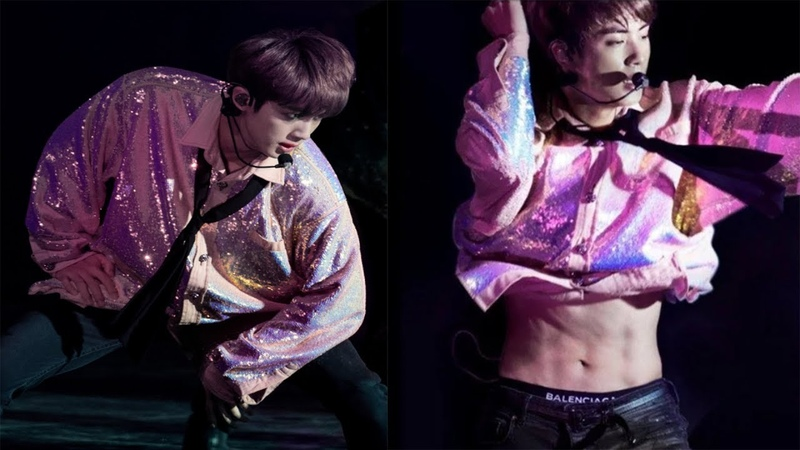 Jin abs was finally revealed in Amsterdam