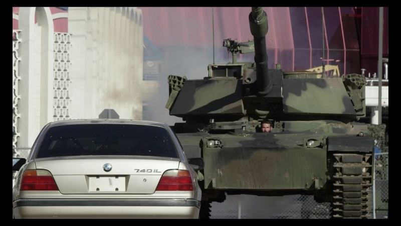 Crushing a BMW 7 series at BattleField Las Vegas