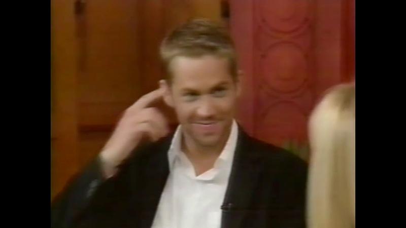 Paul Walker interview Regis and Kelly 2003