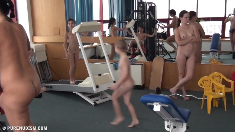 Family nudism exercise