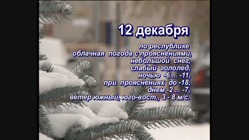 Прогноз погоды на 12 декабря 2018г.