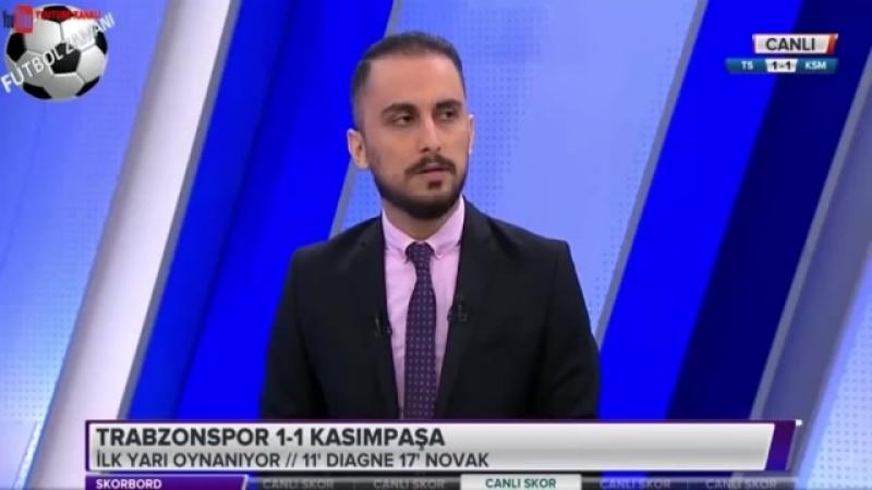 Trabzonspor 1-3 Kasımpaşa Maçı İlk Yarısı Skorbord Yorumları