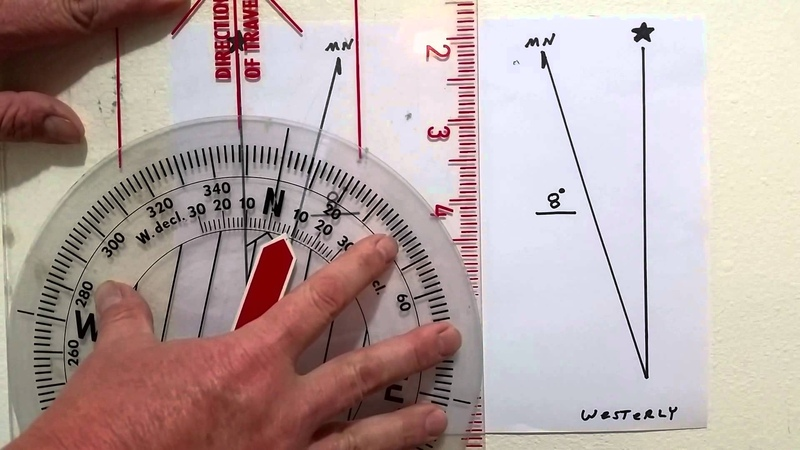 Easy basic compass series part 4 Declination and compass Eagle Jon