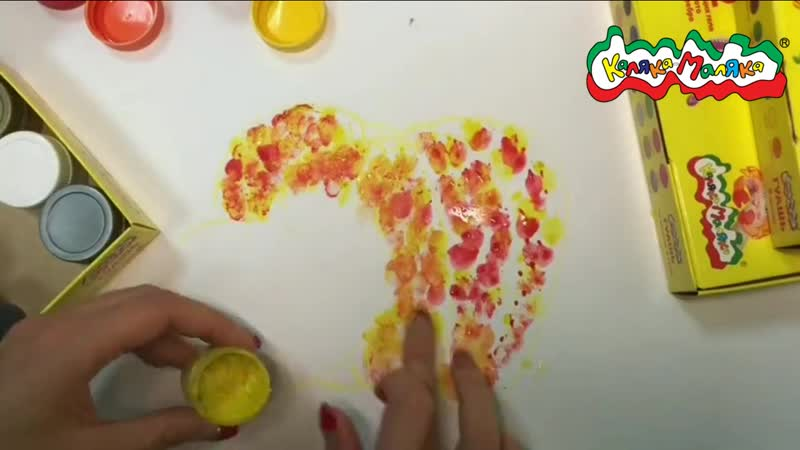 Сенсорные пальчиковые краски от Каляка-Маляка
