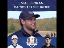 Sky Sports Golf: Niall Horan backs team Europe at the Ryder Cup