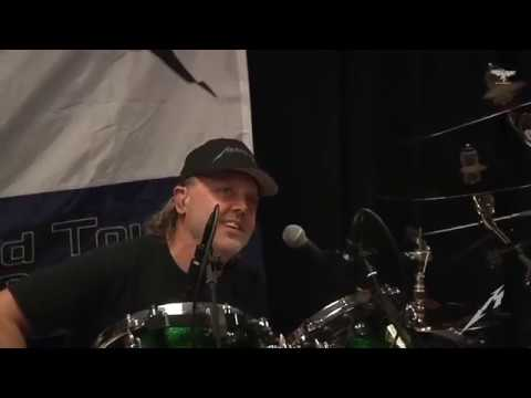 Metallica Lars Ulrich Singing in the Tuning Room Pittsburgh PA October 18 2018