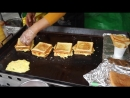 Street Food in Seoul - Grilled Omelette Sandwich One of YOU SHOUL