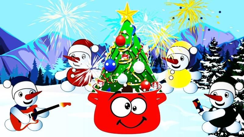 Танец Снеговиков ☃️❄️☃️ Ать-два, В кастрюле голова 🎄 Зимняя сказка про Снеговиков