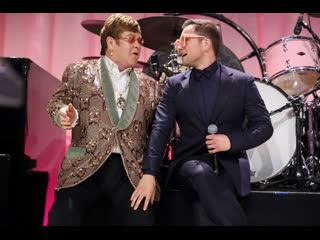 "Рокетмен - элтон джон и тэрон эджертон исполняют ""tiny dancer"""
