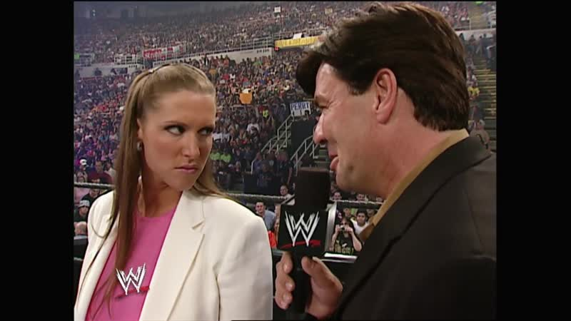 WWE Vengeance 2002 Stephanie McMahon and Eric Bischoff rival for the contract of Triple H