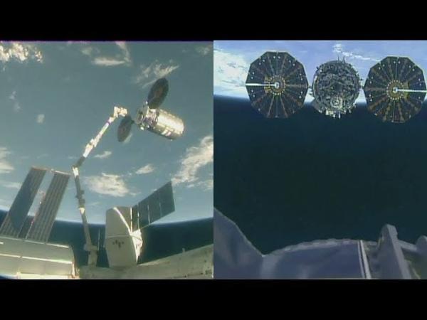 Northrop Grumman CRS-9 Cygnus departure (S.S. J.R. Thompson Cygnus)
