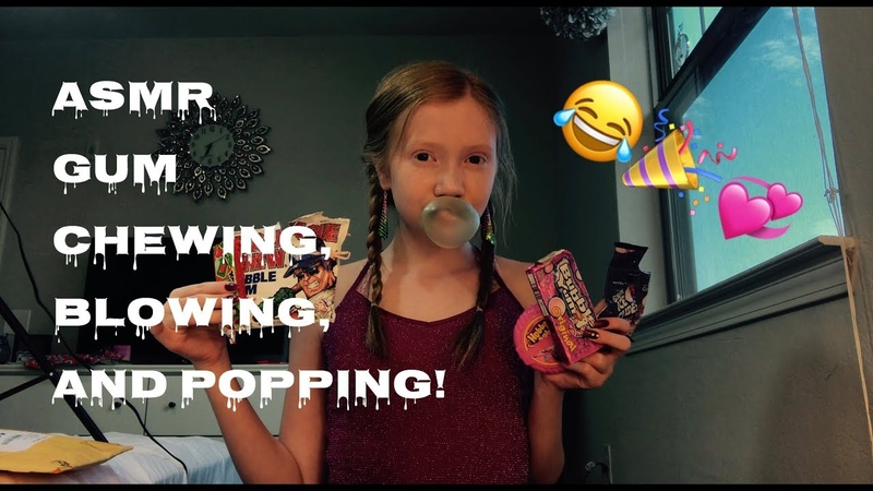 ASMR~ 20 MINUTES OF GUM BLOWING, POPPING, AND CHEWING! 😂🎉💞💞🎉😂