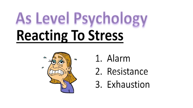As Psychology - Reacting To Stress