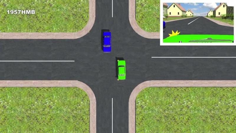 Траектория движения на перекрёстке
