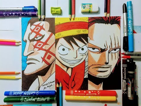 Drawing Dragon Luffy Shanks One Piece Draw Top Character Anime