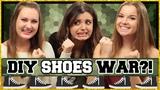 DIY Shoes! DIY Wars w Rebecca Black &amp PrimroseMakeup