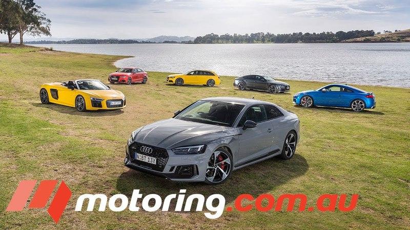 Audi RS3 Sedan, TTRS, RS5 Coupe , RS6 Avant, RS7 Sportback R8 Spyder Comparison   motoring.com.au