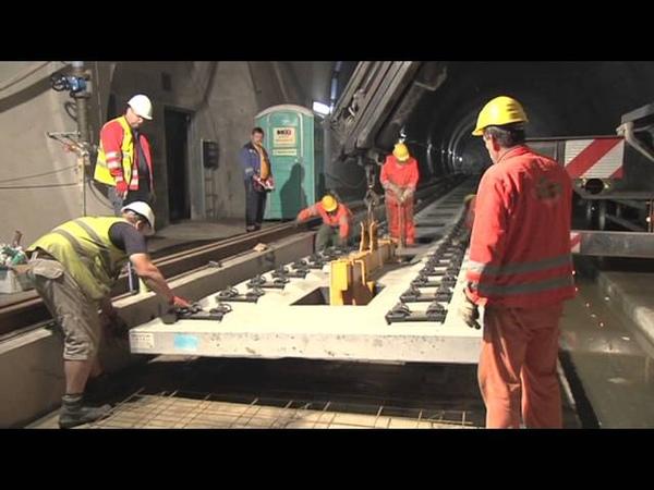 Slab Track Austria - System ÖBB-PORR elastisch gelagerte Gleistragplatte