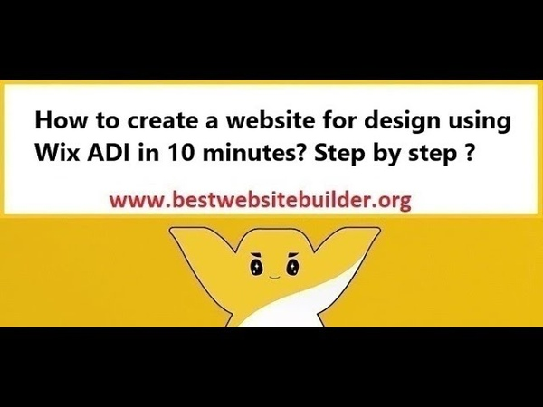 How to create a website for design using Wix ADI in 10 minutes? Step by step