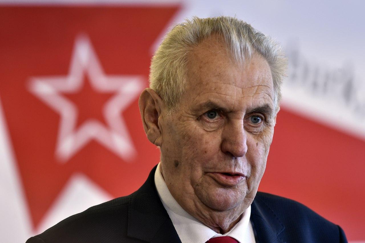 Земан выступил с заявлением относительно «Новичка»