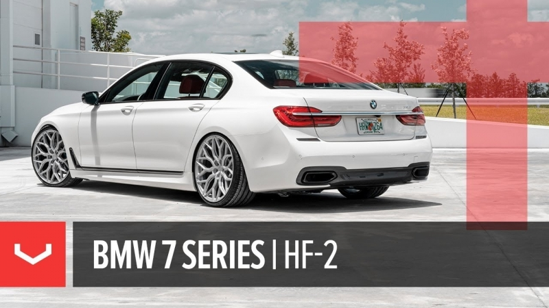 Vossen Hybrid Forged HF-2 Wheel | BMW 740i M-Sport | Satin Silver
