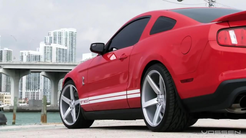 Ford Mustang Shelby GT500 on 20 Vossen VVS-CV3 Concave Wheels _ Rims