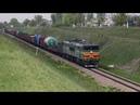 2ТЭ10У 0394 с грузовым поездом на перегоне Сураж - Ипуть Московской железной дороги.