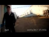 Нападение на сотрудника колонии (видео с регистратора)