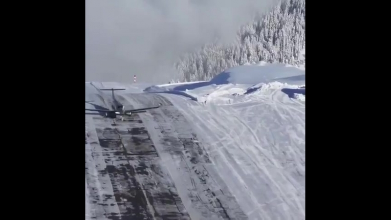 The most dangerous Landing in the world Courchevel Altipo i